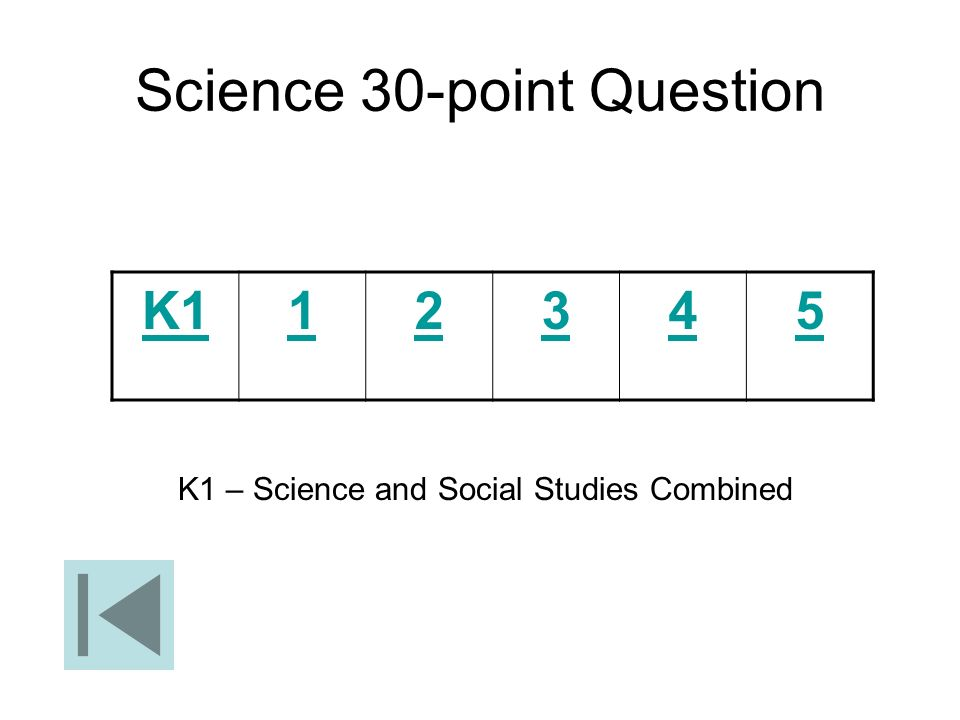 Science 30-point Question