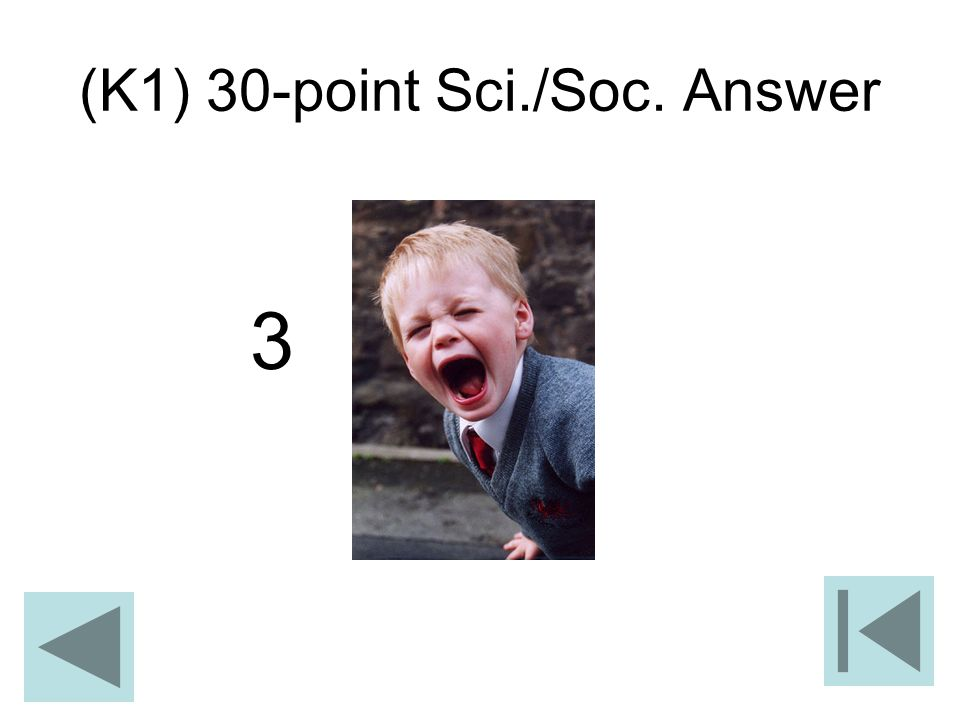 (K1) 30-point Sci./Soc. Answer