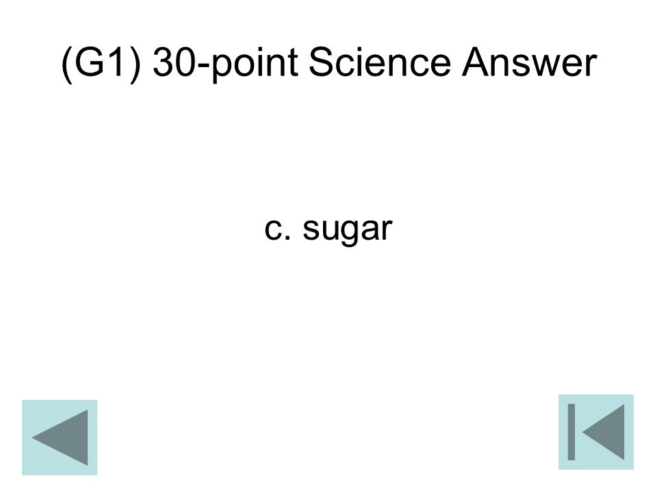 (G1) 30-point Science Answer