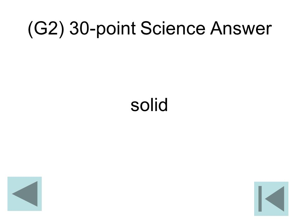 (G2) 30-point Science Answer
