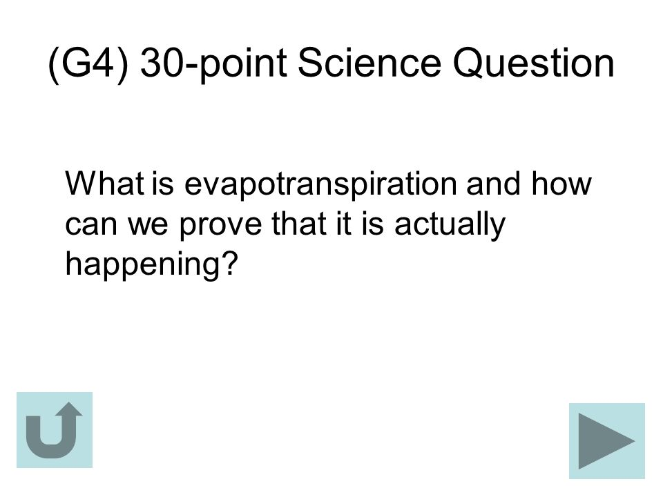 (G4) 30-point Science Question