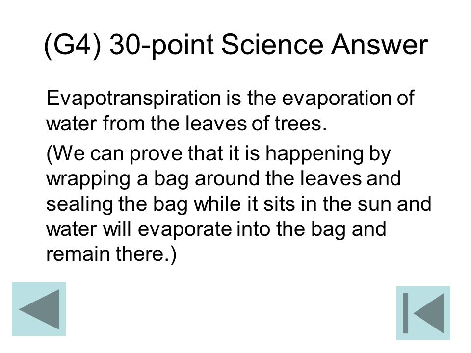 (G4) 30-point Science Answer