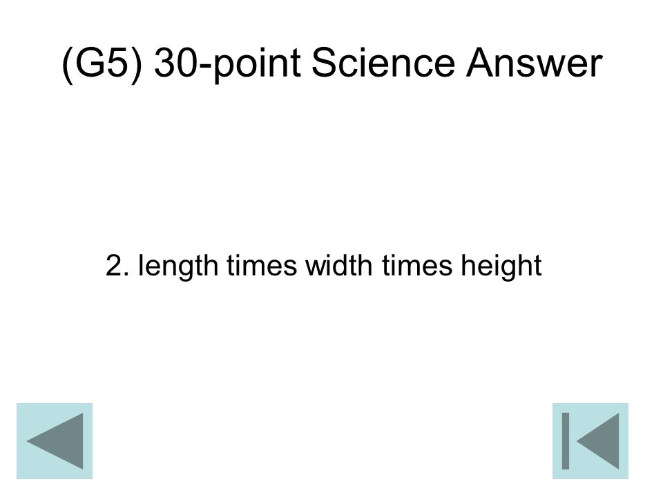 (G5) 30-point Science Answer