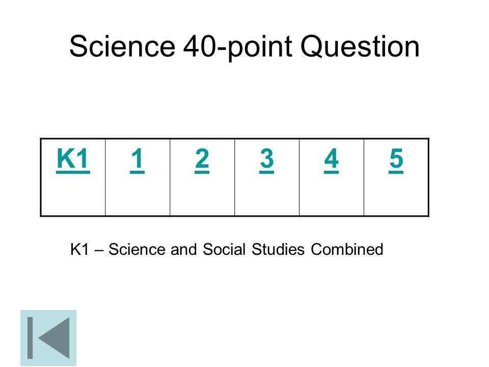 Science 40-point Question