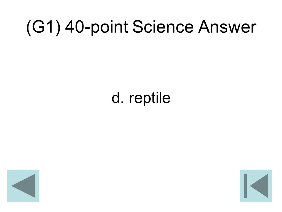 (G1) 40-point Science Answer