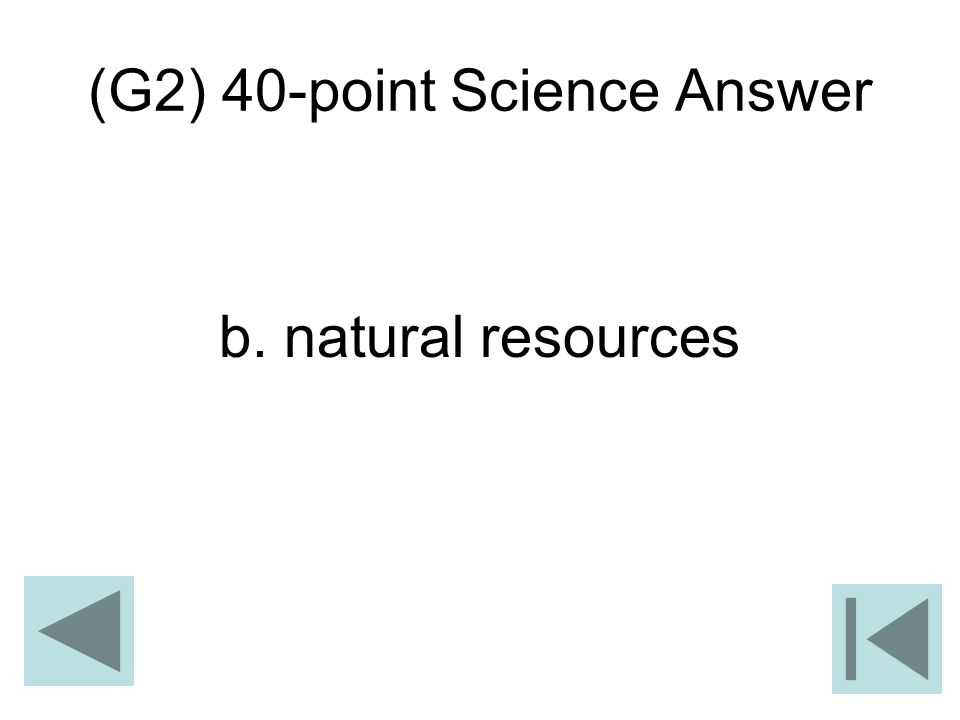 (G2) 40-point Science Answer
