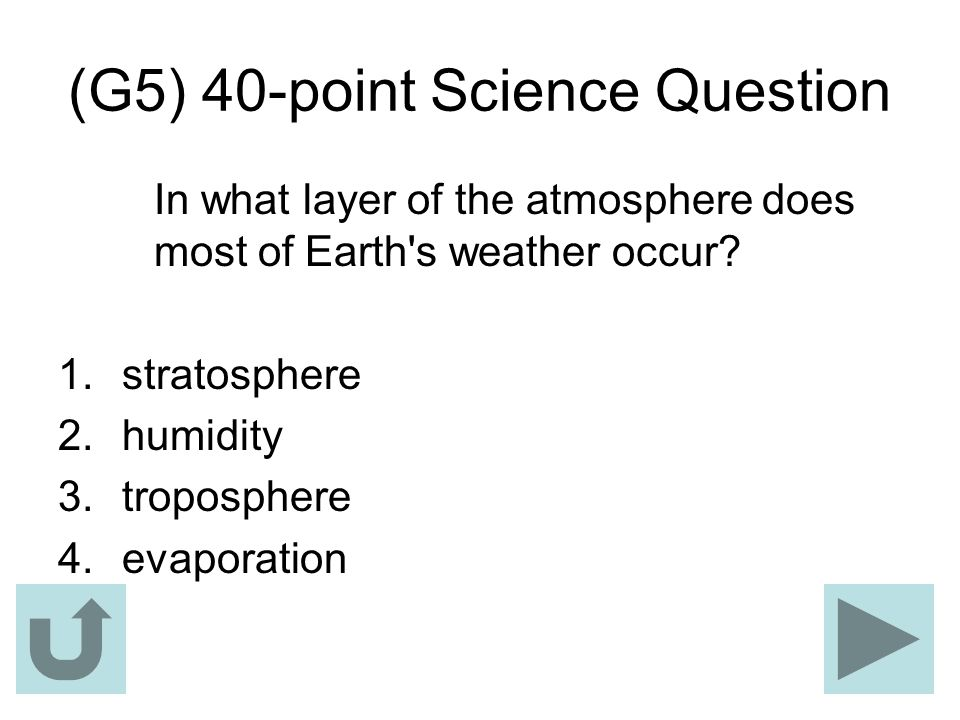 (G5) 40-point Science Question