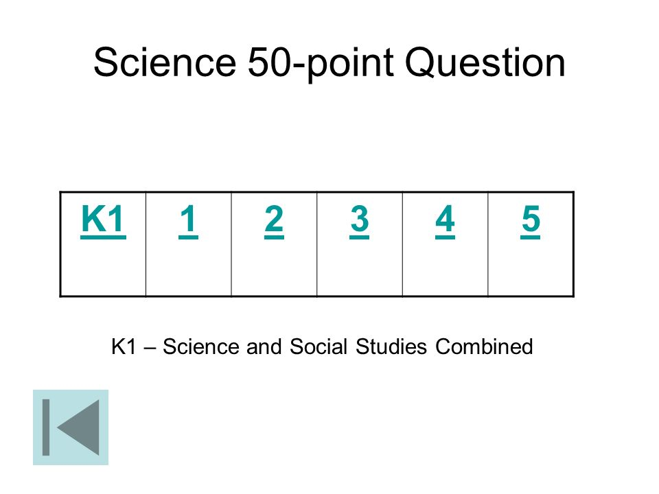 Science 50-point Question