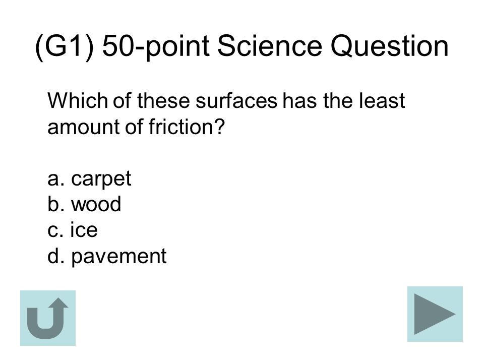 (G1) 50-point Science Question
