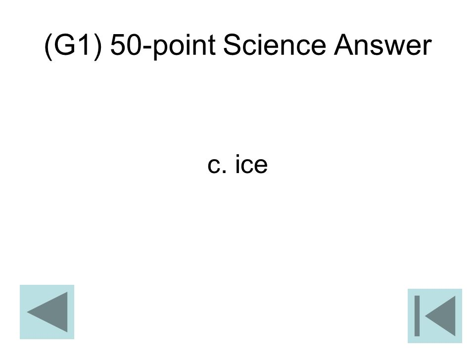 (G1) 50-point Science Answer