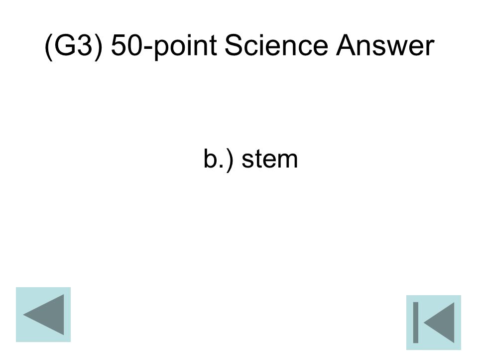(G3) 50-point Science Answer