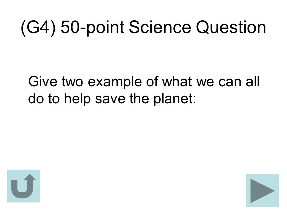 (G4) 50-point Science Question