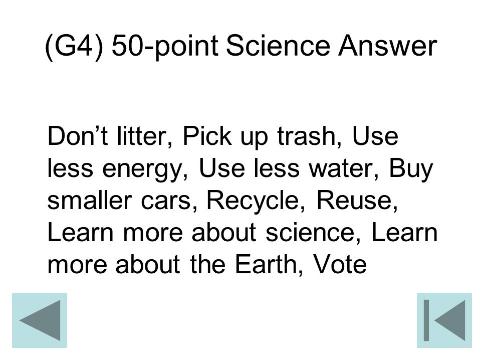 (G4) 50-point Science Answer