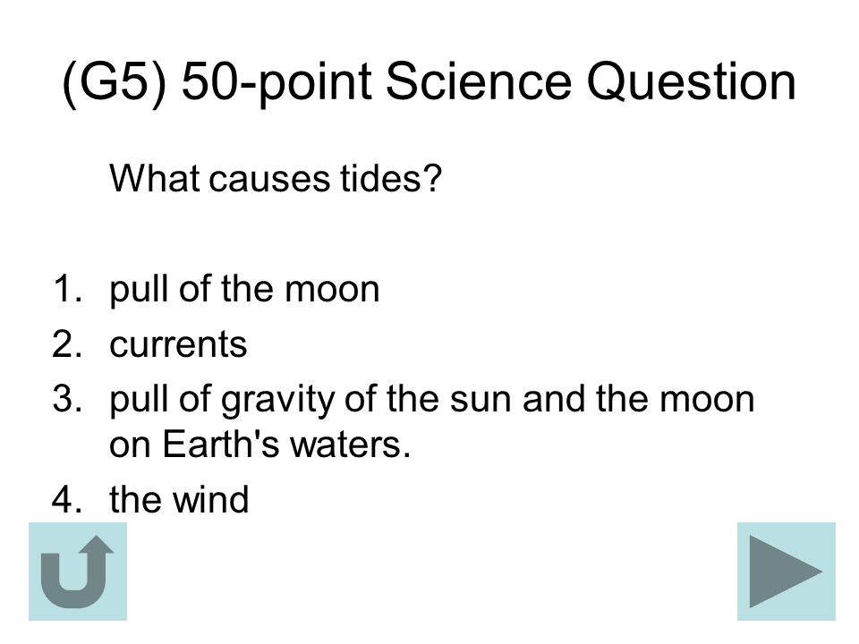 (G5) 50-point Science Question