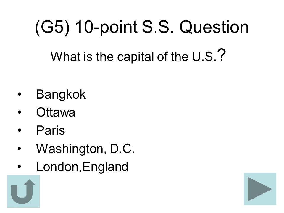 What is the capital of the U.S.