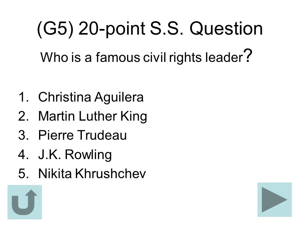 Who is a famous civil rights leader
