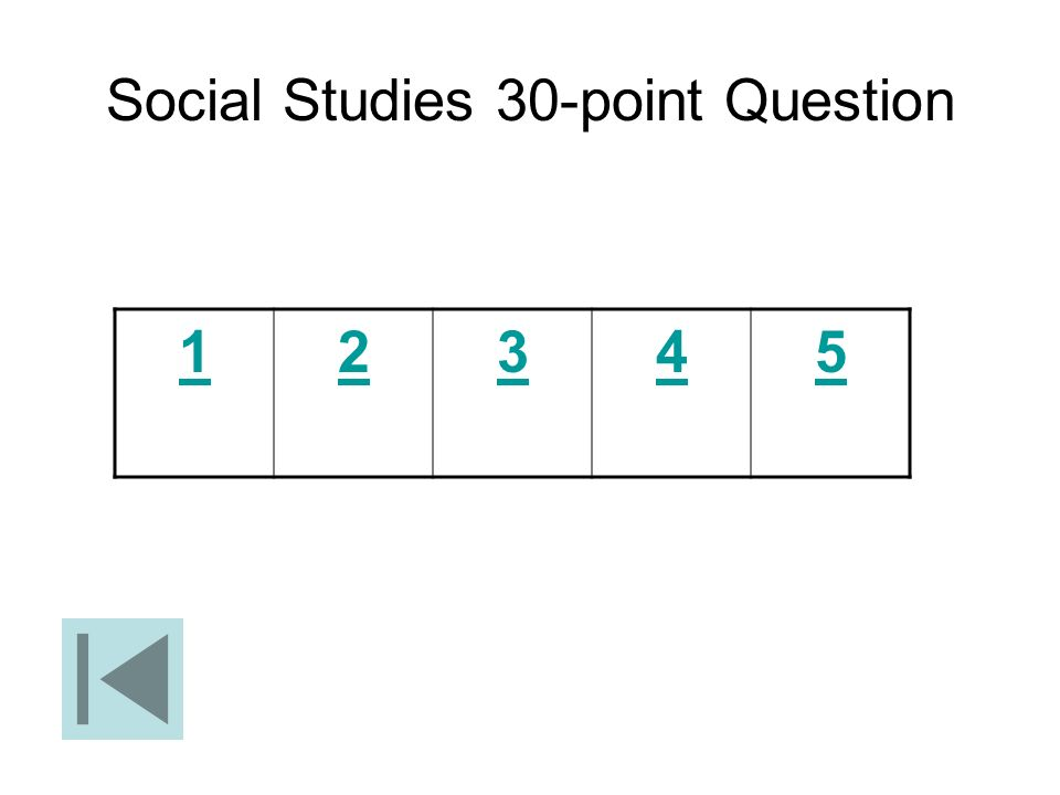 Social Studies 30-point Question