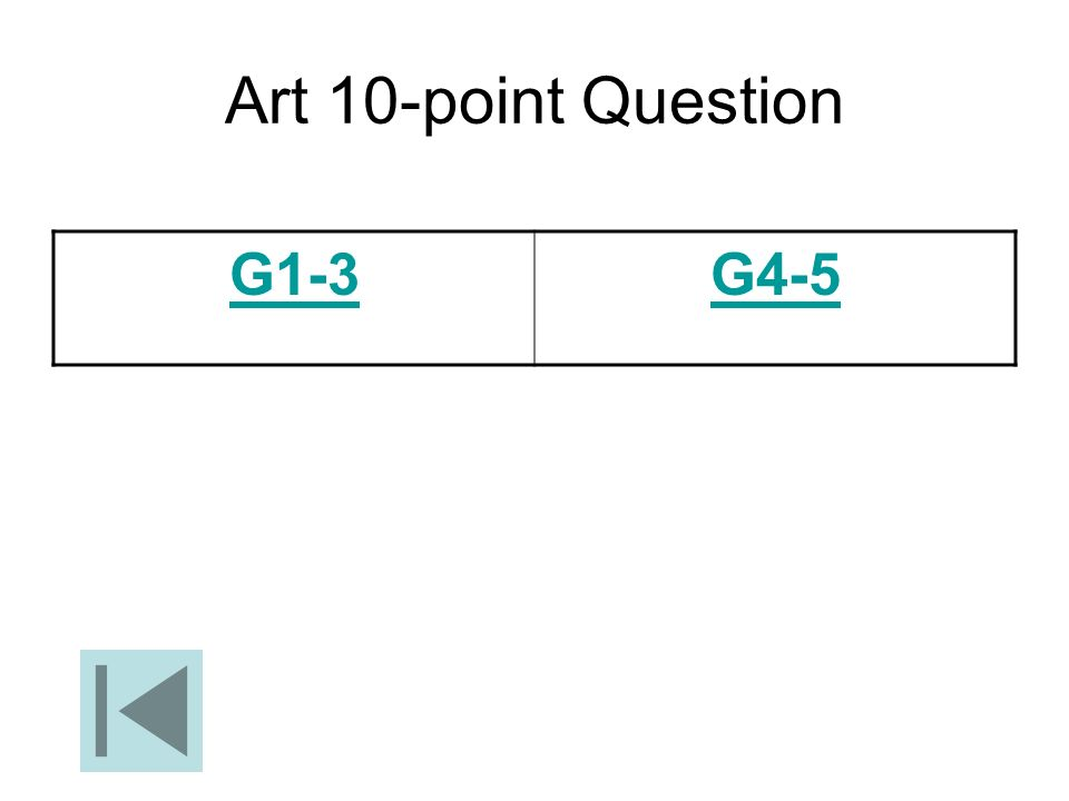 Art 10-point Question G1-3 G4-5
