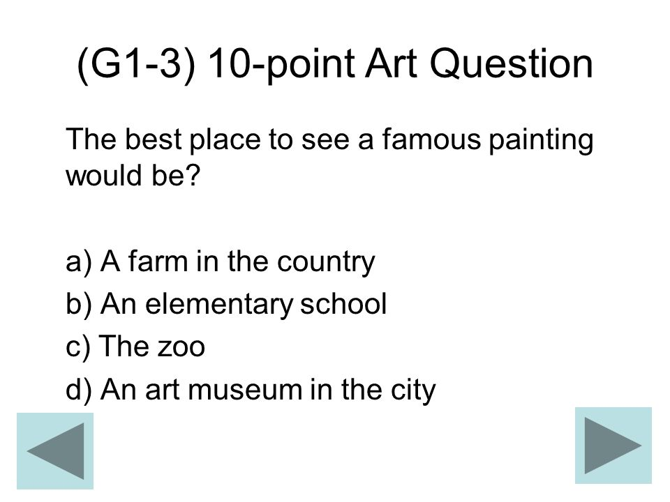 (G1-3) 10-point Art Question