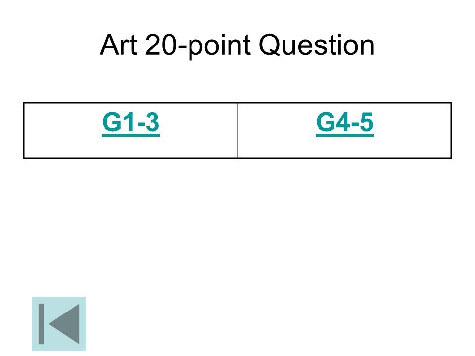 Art 20-point Question G1-3 G4-5