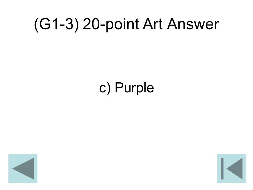 (G1-3) 20-point Art Answer c) Purple