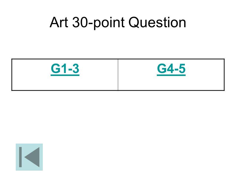 Art 30-point Question G1-3 G4-5