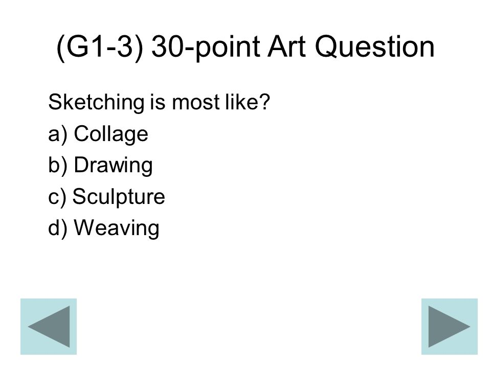 (G1-3) 30-point Art Question