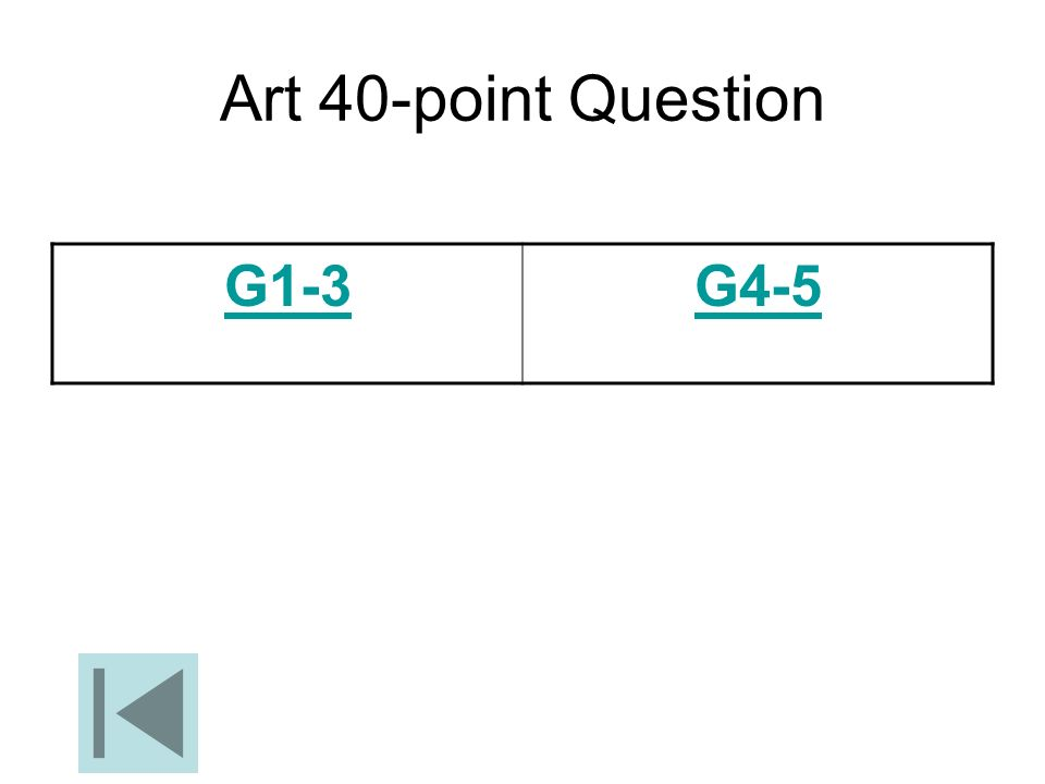 Art 40-point Question G1-3 G4-5