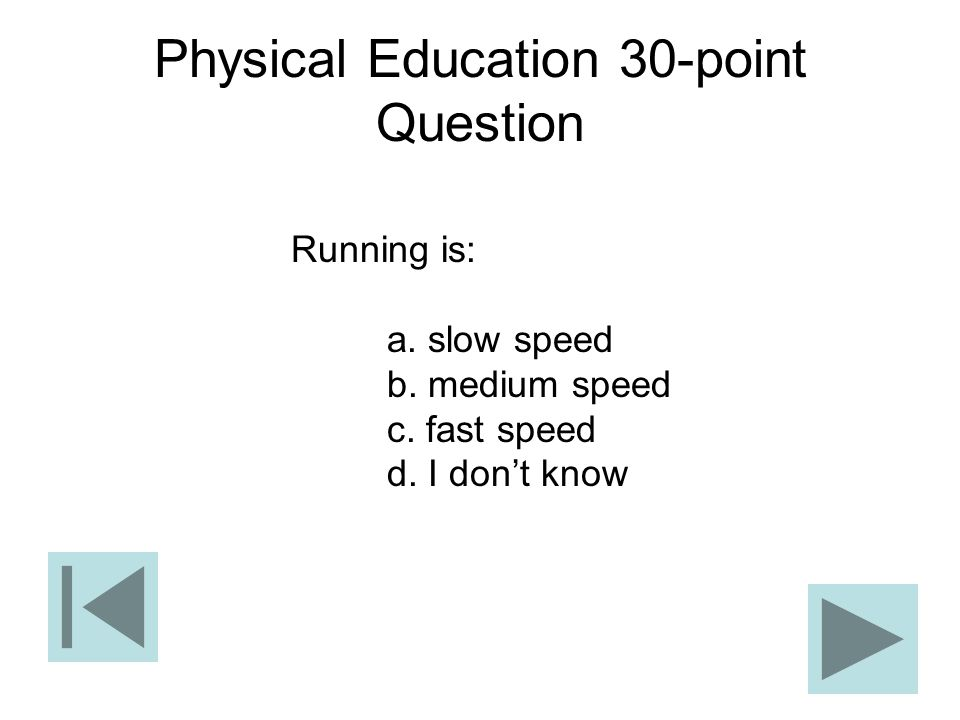 Physical Education 30-point Question