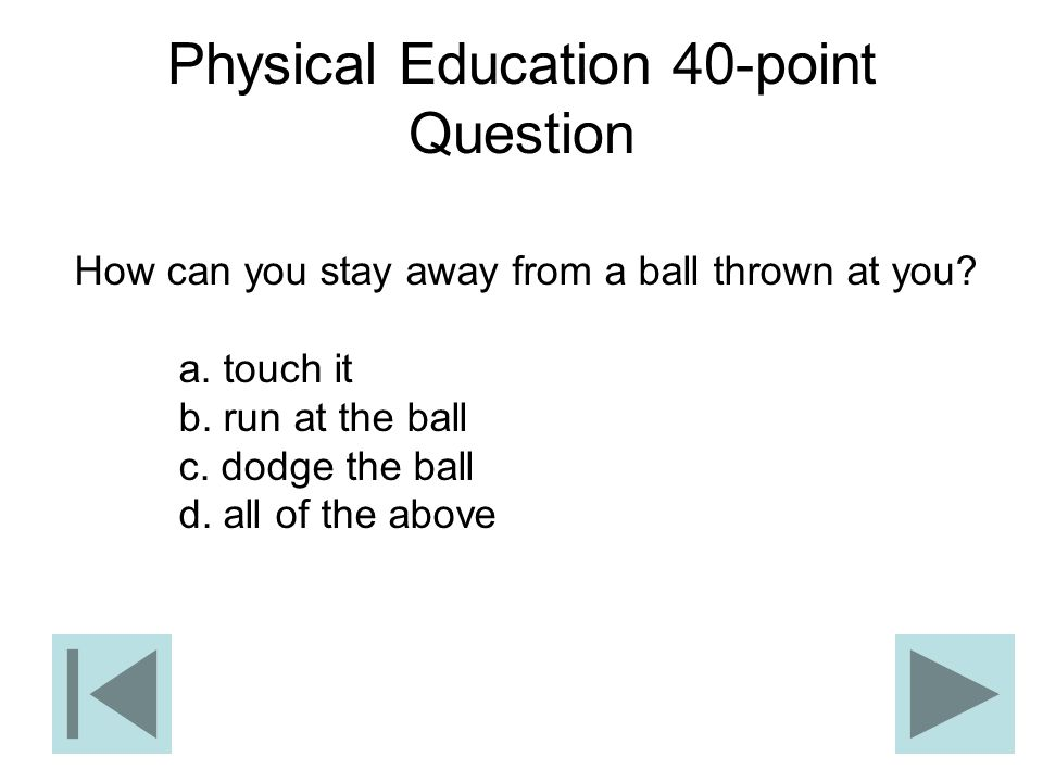 Physical Education 40-point Question