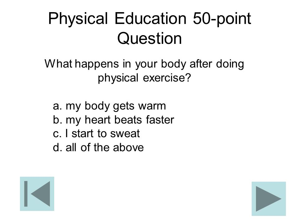 Physical Education 50-point Question