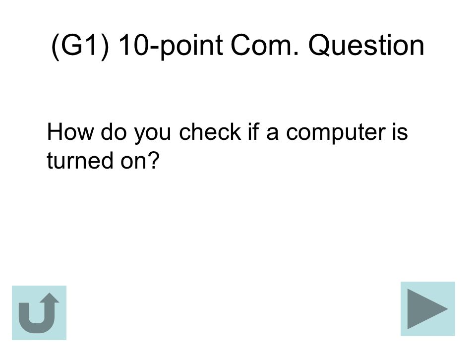 (G1) 10-point Com. Question