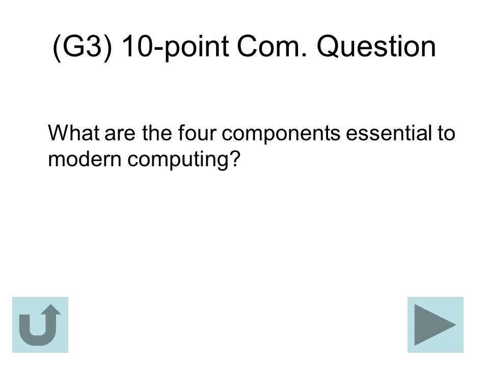 (G3) 10-point Com. Question