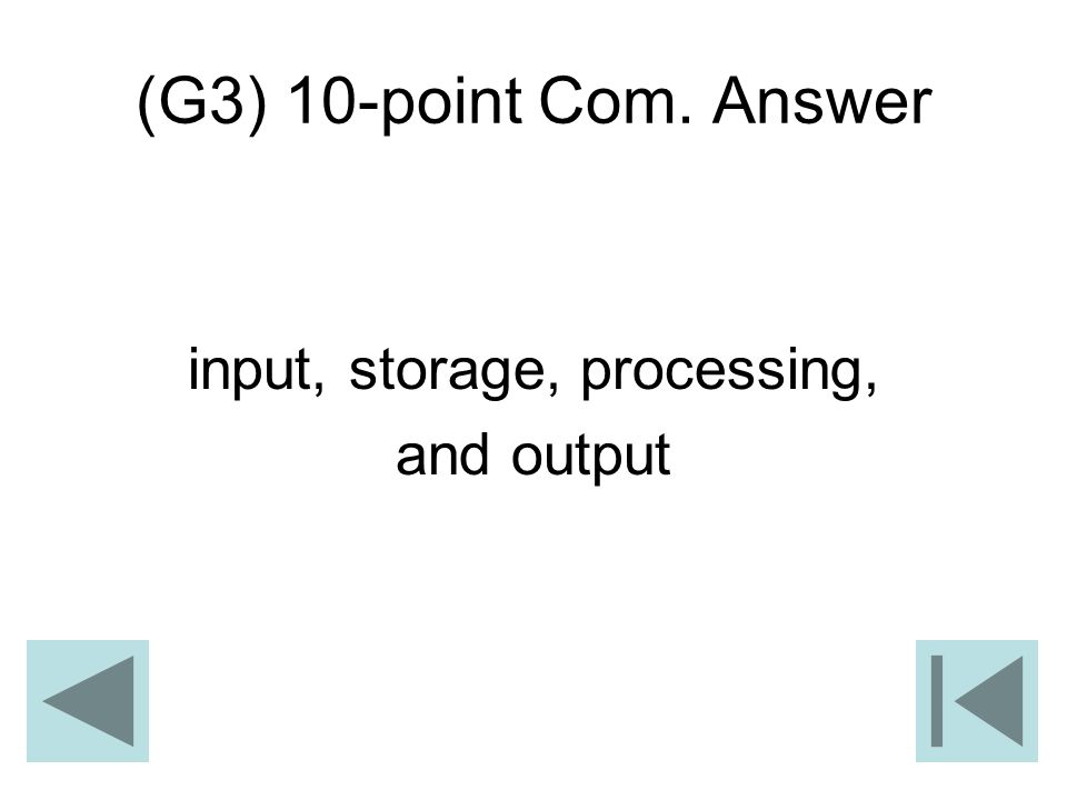 input, storage, processing,