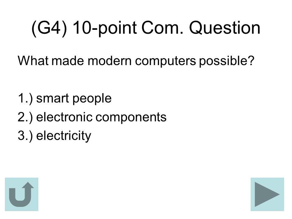 (G4) 10-point Com. Question