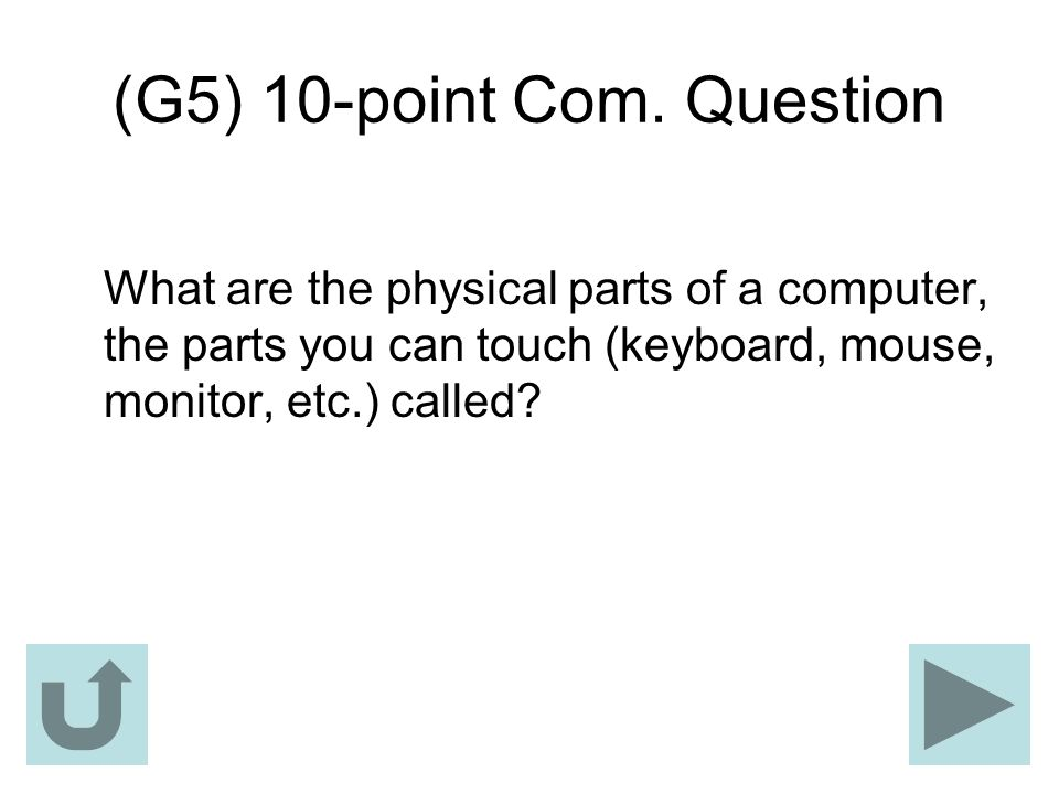 (G5) 10-point Com. Question