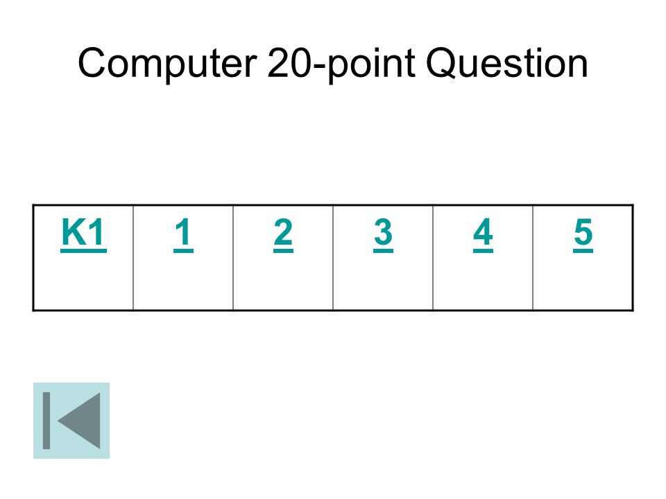 Computer 20-point Question