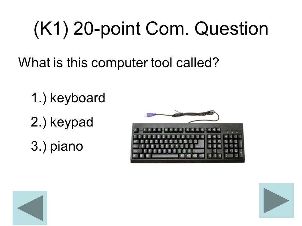 (K1) 20-point Com. Question
