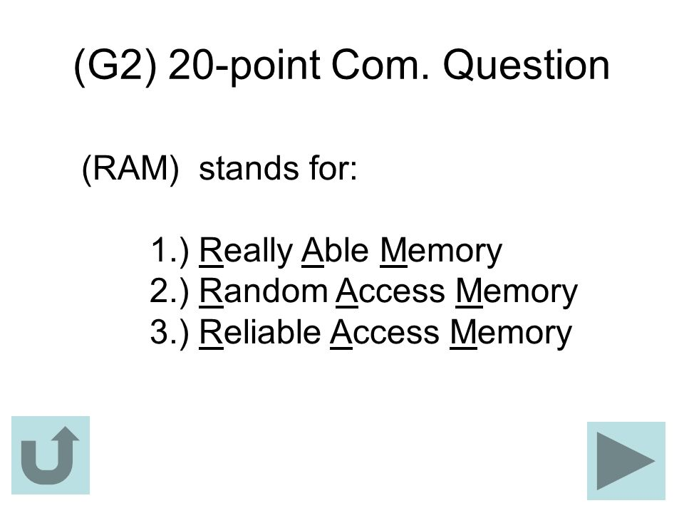 (G2) 20-point Com. Question