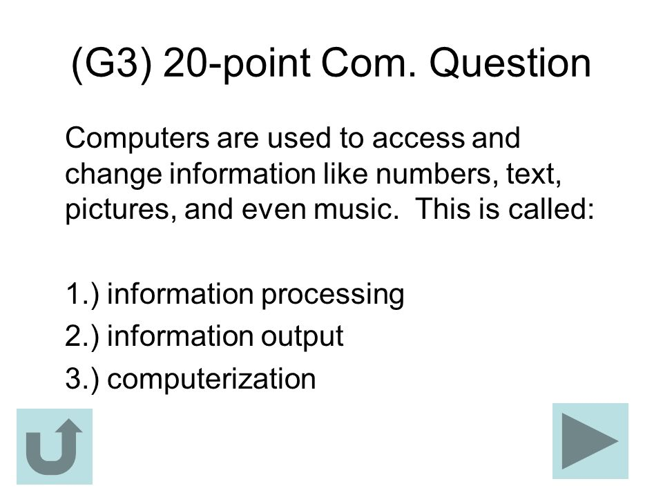 (G3) 20-point Com. Question