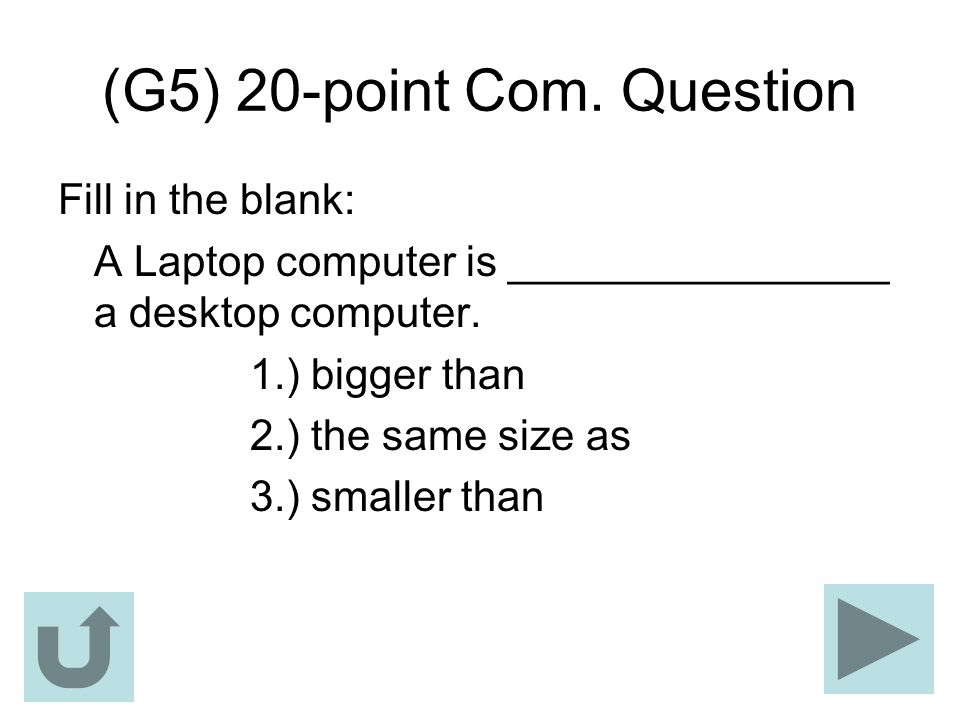 (G5) 20-point Com. Question