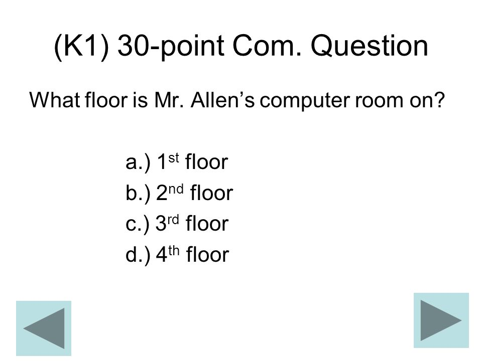 (K1) 30-point Com. Question