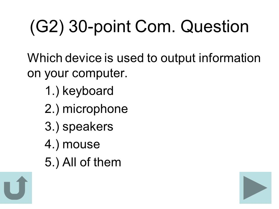 (G2) 30-point Com. Question