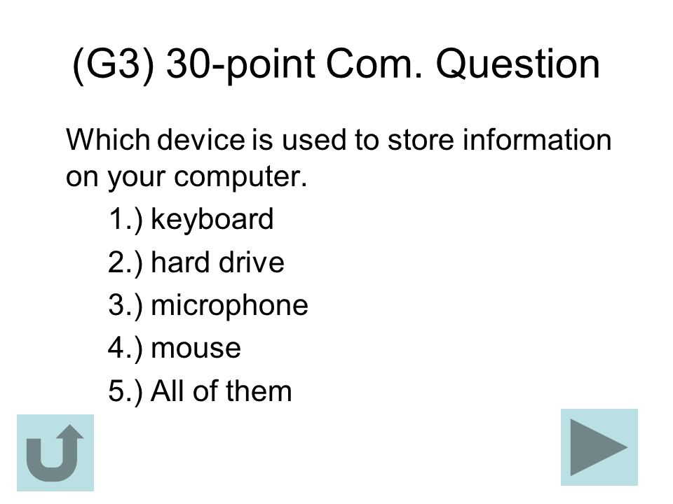 (G3) 30-point Com. Question