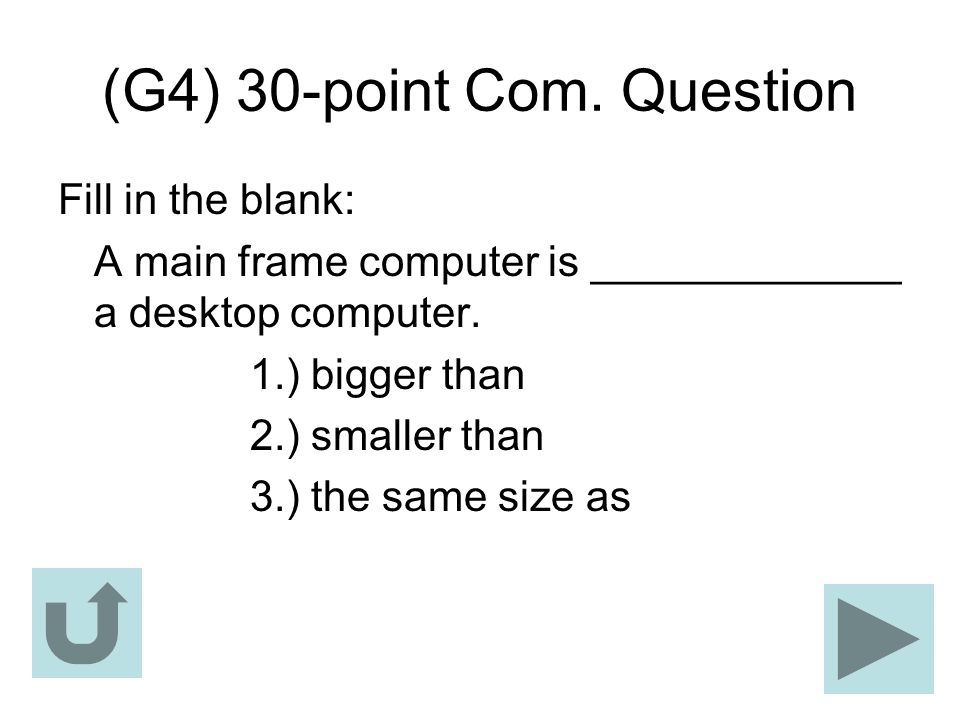 (G4) 30-point Com. Question