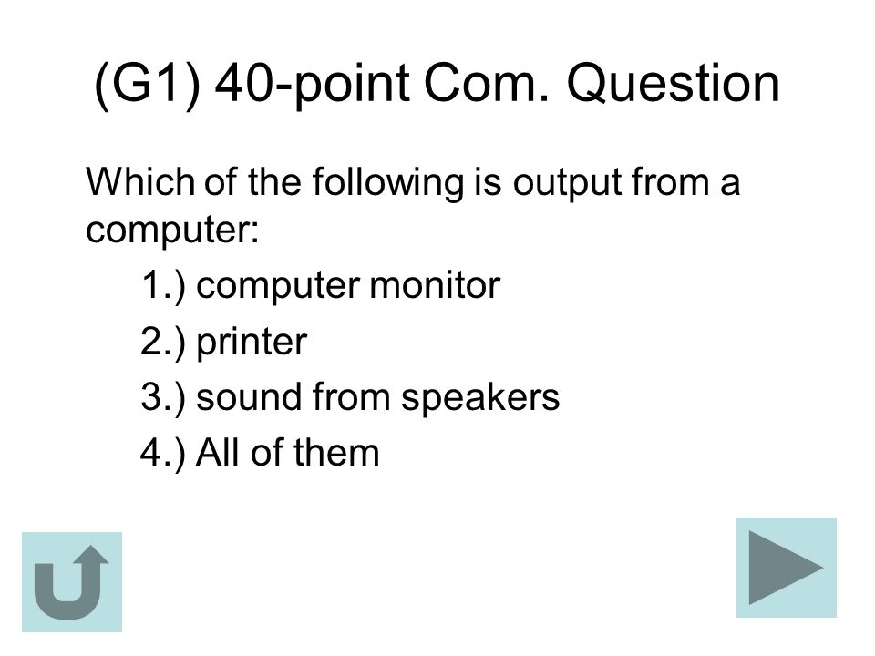 (G1) 40-point Com. Question