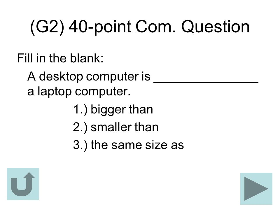 (G2) 40-point Com. Question