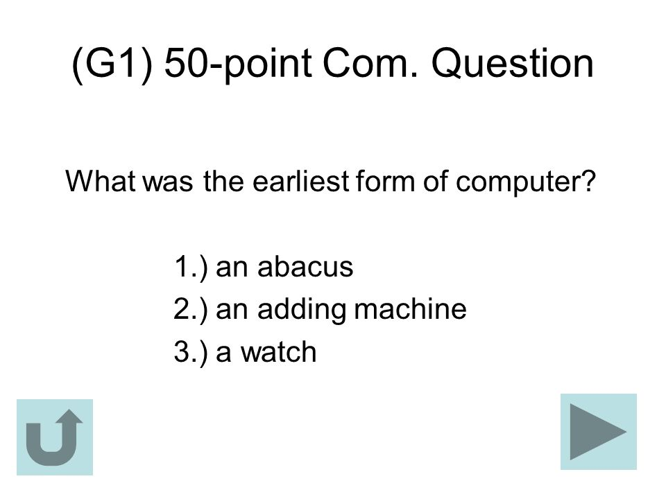 (G1) 50-point Com. Question