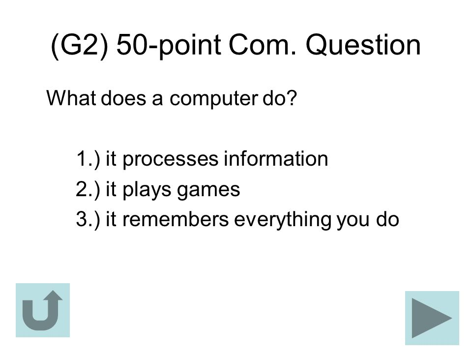 (G2) 50-point Com. Question