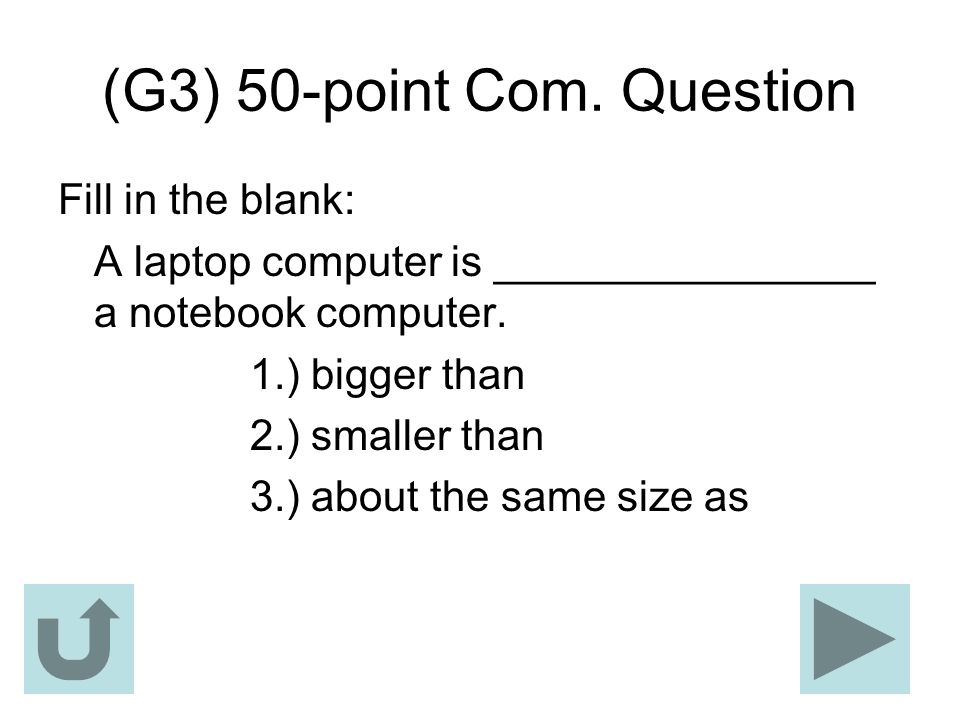 (G3) 50-point Com. Question